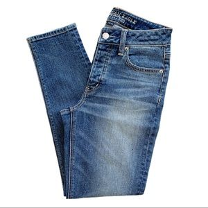 AE Vintage High Rise Button Fly Tapered Ankle Jean